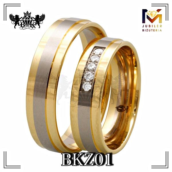 bizuteriakumor.pl obraczki24.com.pl obrączki złote dwa kolory białe złoto palladowe oraz żółte z cyrkoniami lub brylantami