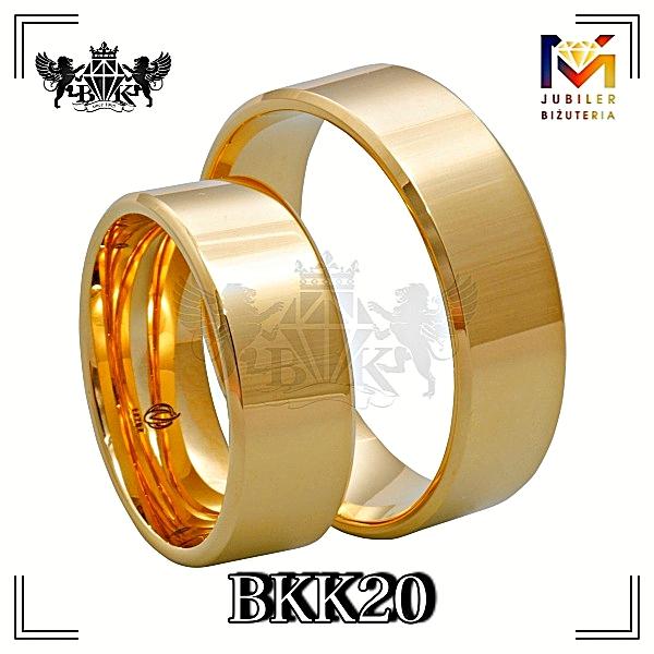 obrączki złote biżuteriakumor.pl obrączki24.com.pl szerokie obrączki proste z góry o prostym profilu i ścięte boki fazy
