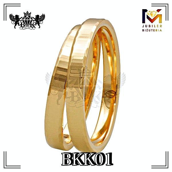obrączki złote biżuteriakumor.pl obrączki24.com.pl obrączi klasyczne proste z fazowanymi bokami złote 333 585 lub 750
