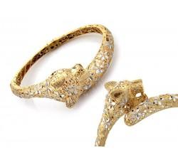 Komplet naszyjnik i kolczyki z cyrkoniami rodowany kolor srebro / białe złoto