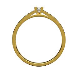 Obrączki PaRa złote 585 14K damska z cyrkoniami lub brylantami dzielone połowy po fali satynowane
