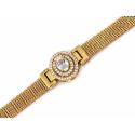 Wspaniały komplet kolczyki i kolia złocony z kryształami Swarovskiego rozbudowana