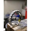 Piękne kolczyki wiszące cyrkonie rodowane kolor srebro / białe złoto