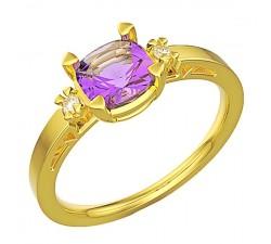 Bransoletka złota 585 14K z sercem masywna dwukolorowa cudownie się prezentuje