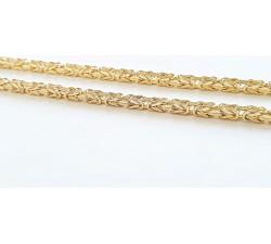 Łańcuszek złoty 585 14K splot królewski 55 cm 1.9 mm
