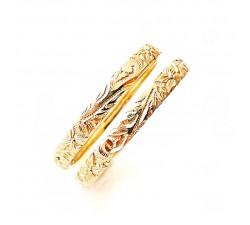 Zamówienie obrączki złote  3.5 mm 375 9K zdobione ręcznie indywidualny wzór ręczny