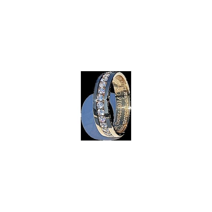 Zamówienie - P. Artur obrączka rząd cyrkonii dookoła szerokość 4.5 mm próba 375 9K