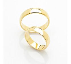 zamówienie - obrączki klasyczne lekko półokrągłe białe złoto standardowe
