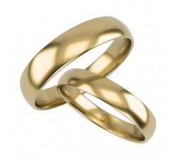 Zamówienie PAN MICHAŁ obrączki 3.5 i 4 mm klasyczne półokrągłe złoto 585 14K