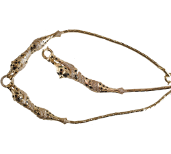 Ekskluzywny komplet złoty 585 14K kolia i bransoletka puma pantera