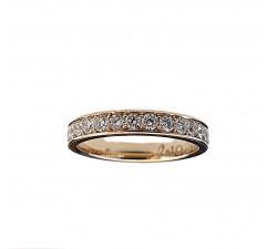 Zamówienie P. Krystian ekskluzywny komplet obrączek rząd diamentów złoto 585 14K