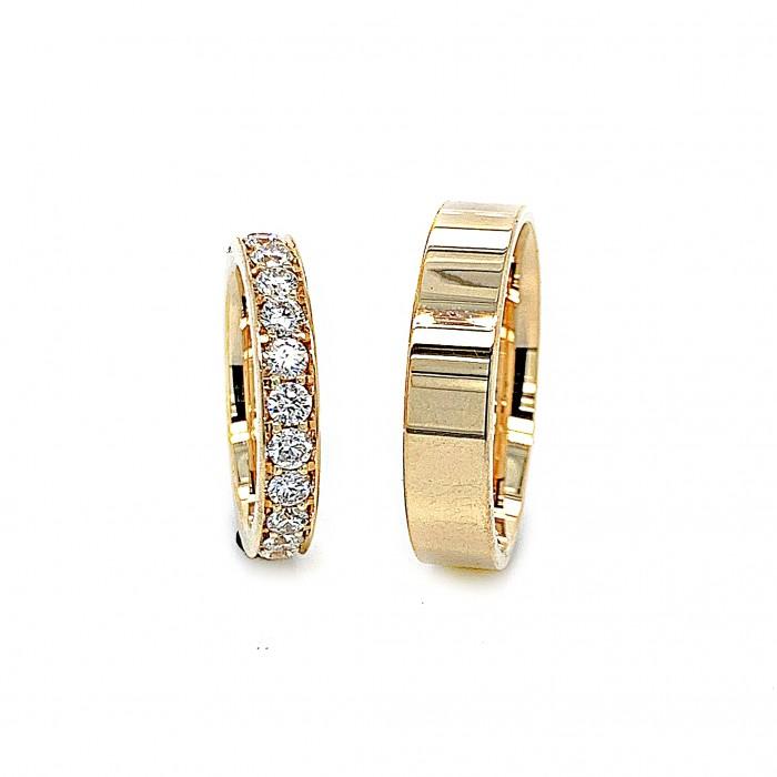 Zamówienie P. Monika ekskluzywny komplet obrączek rząd diamentów złoto 585 14K