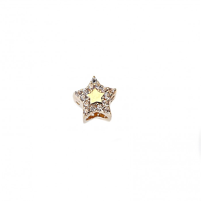 Złoty 585 14K element do bransoletki charms gwiazdka