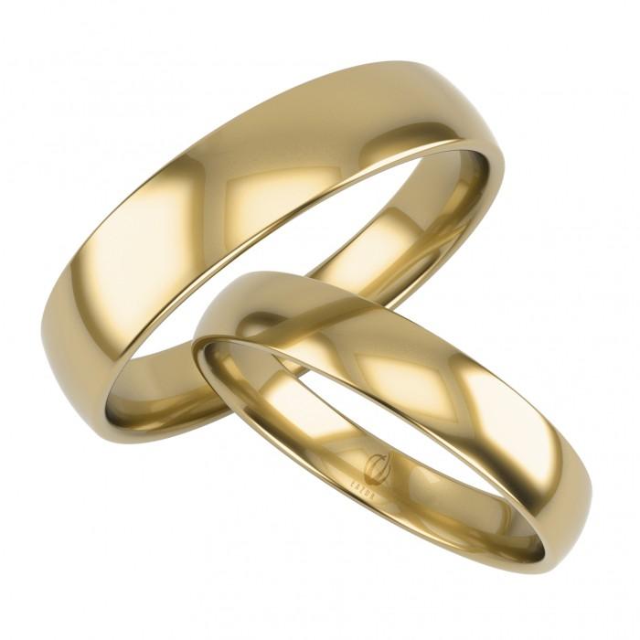 Zamówienie klasyczna para obrączek lekko półokrągłych złoto 375 9K