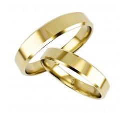 Zamówienie obrączka 3 mm, prosty profil fazowane krawędzie złoto 333 8K