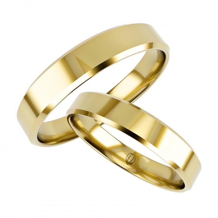 Zamówienie obrączka 3 mm, prosty profil fazowane krawędzie złoto 375 9K