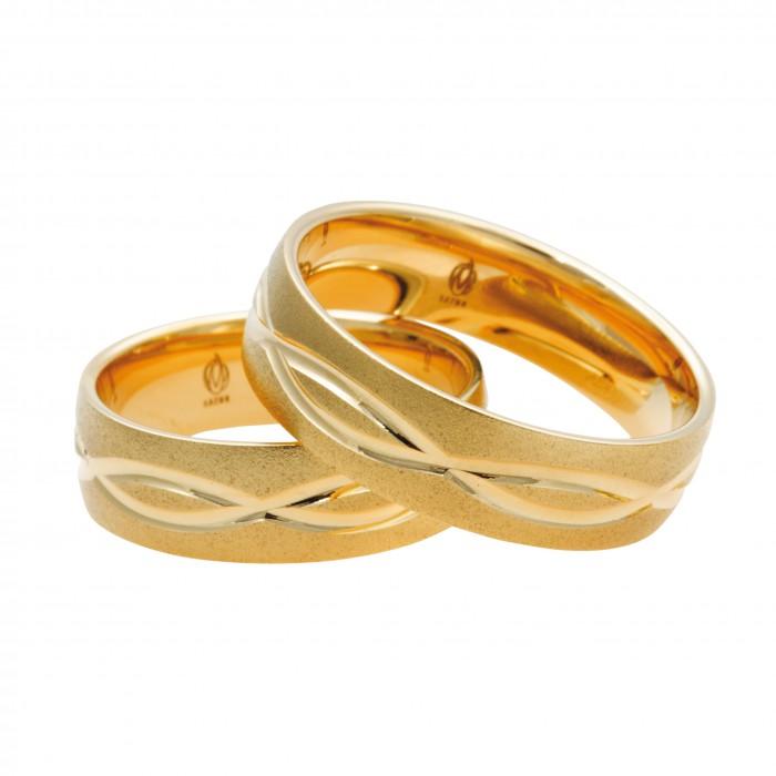 Zamówienie P. Wioletta para obrączek zdobiony złoto 585 14K