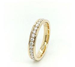 Zamówienie Wspaniała obrączka pierścionek rząd Moissanite dookoła złoto 585 14K