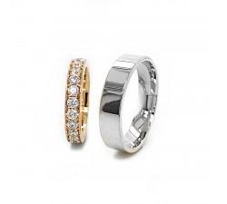 Zamówienie Eliza & Adam ekskluzywne obrączki z brylantami 585 14K białe złoto