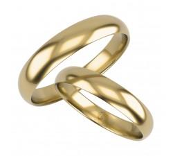 Klasyczna para obrączek półokrągłych 2 mm złoto 585 14K delikatne wąska smukła