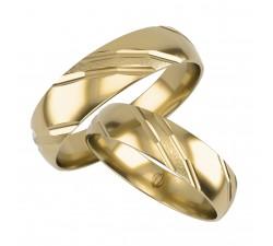zamówienie obrączka zdobiona BKL01 złoto 585 14K 5 mm