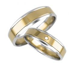 Zamówienie para złotych obrączek złoto żółte i białe palladowe 375 9K
