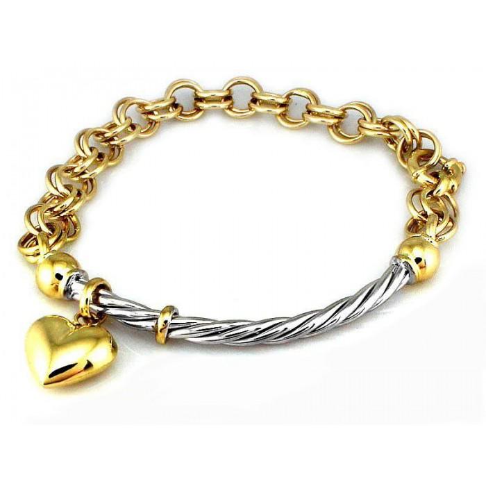 Bransoletka złota 585 14K z sercem elementowa