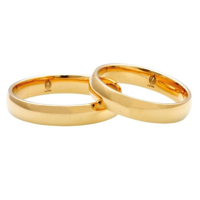 Zamówienie klasyczna para obrączek półokrągłych złoto 585 14K