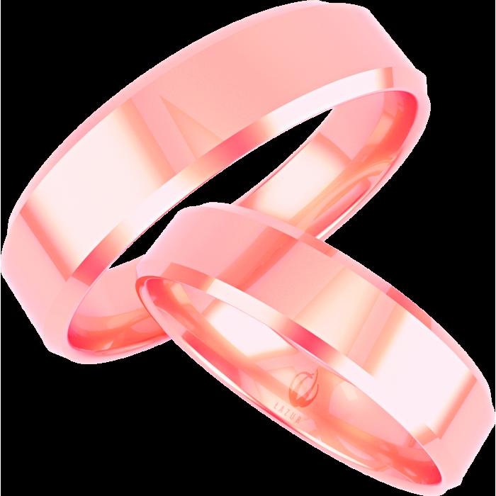 Zamówienie para obrączek z różowego złota prostych mocniej fazowane boki próba 375 9K