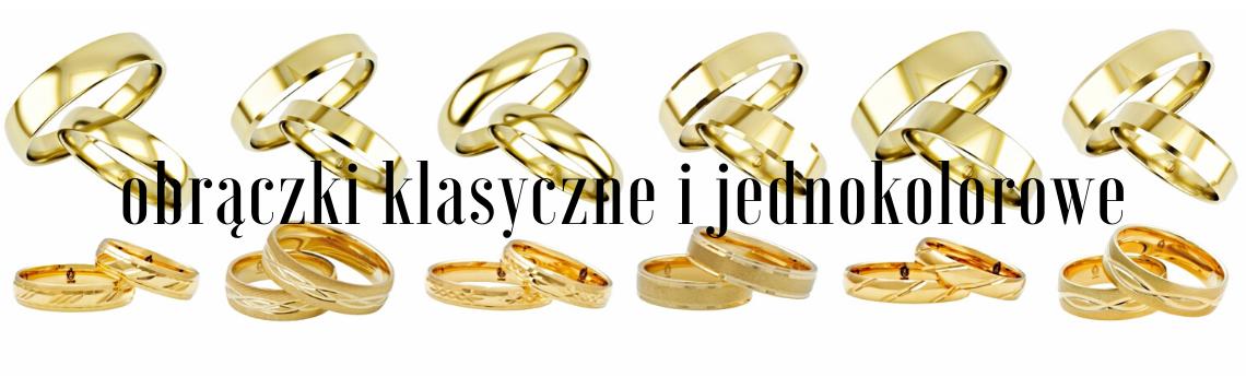 Obrączki złote klasyczne proste półokrągłe soczewka wąskie szerokie