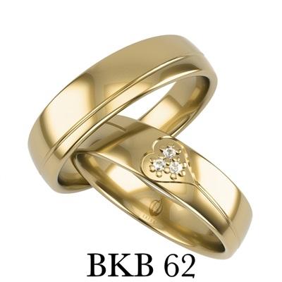 bizuteriakumor.pl obrączki złote lączone kolory bikolor prosty profil satynowane fazowane z brylantem BKB61