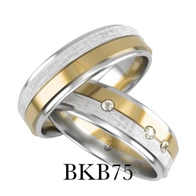 bizuteriakumor.pl obrączki24.com.pl obrączki złote para nowoczesne wzornictwo to odważne połączenie kolorów złota i zdobienie satyną piękne obrączki BKB75