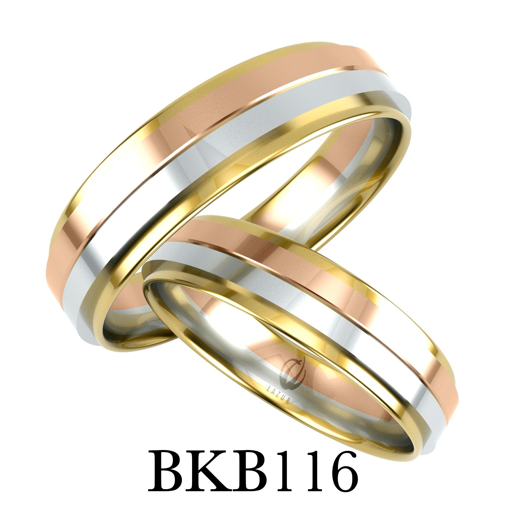bizuteriakumor.pl obraczki trzy kolory złota biaałe złoto hipoalergiczne złote obrączki 585 14K bkb116
