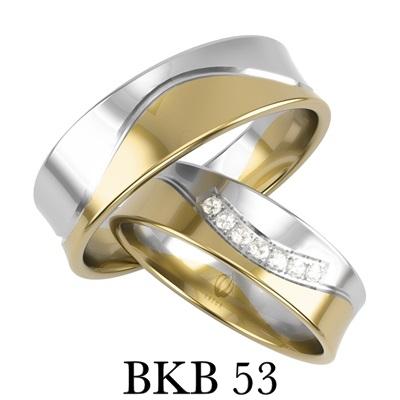 bizuteriakumor.pl obraczki obraczki24.com.pl komplet obrączek nowoczesny wygląd odważny profil brylanty lub cyrkonie BKB53