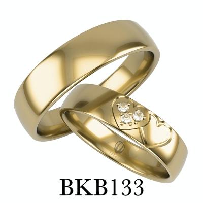 bizuteriakumor.pl obraczki24.com.pl obrączki z sercem dwa łączone serca brylanty cyrkonie BKB133