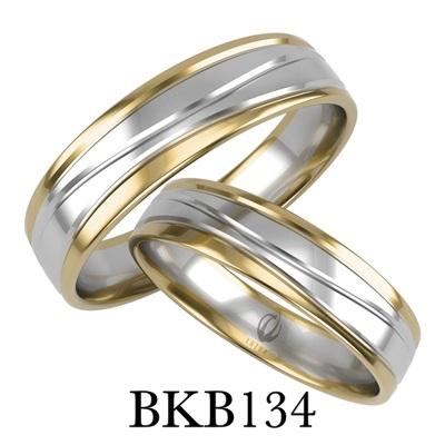 bizuteriakumor.pl obraczki24.com.pl obrączki złączonymi kolorami złota białe białe balladowe i żółte poler linie falujące dookoła BKB134