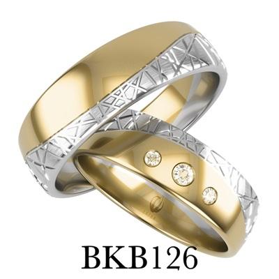 bizuteriakumor.pl obraczki24.com.pl obrączki złote białe i żiłte złoto łączone cyrkonie brylanty zdobione wzorki BKB126