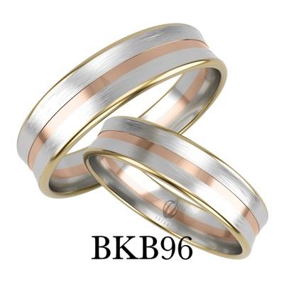 bizuteriakumor.pl obraczki24.com.pl obraczka trzy kolory złota odwrotny profil do wewnątrz BKB96